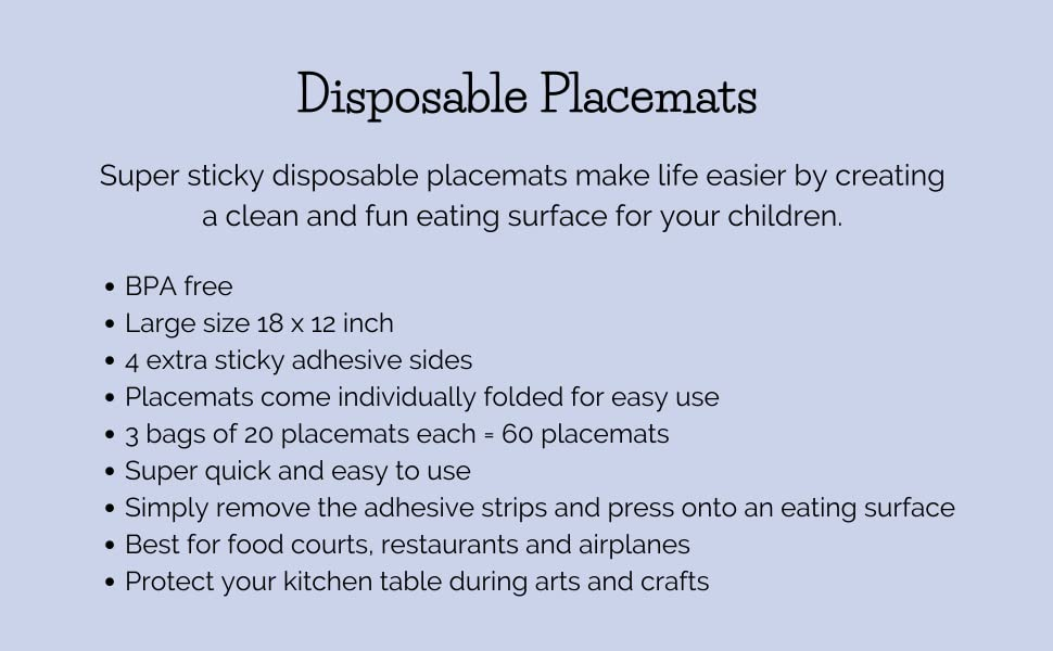 Suessie Disposable Placemats
