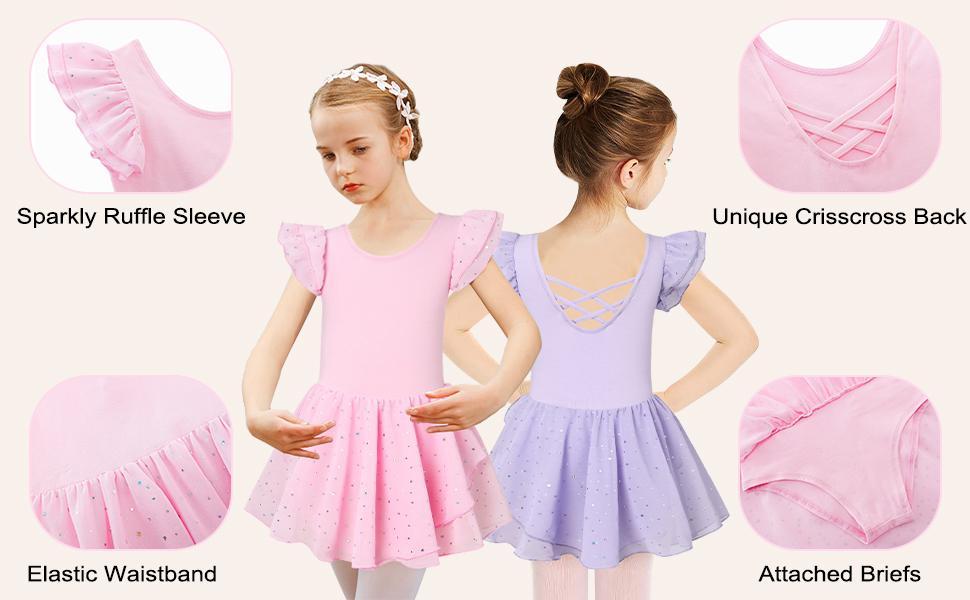 Girl Kids Ballet Dance Dress