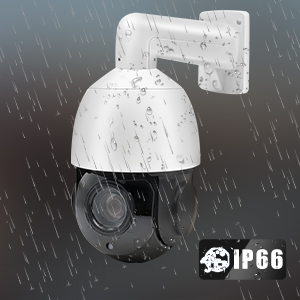 Speed Dome with 165ft IR Night Vision, H.265, IP66,Compatible with Hikvision/Onvif Protocol