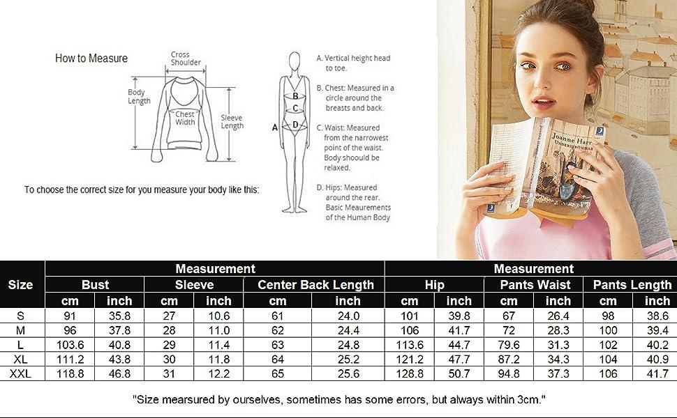 Women pajamas size