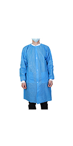 disposable blue SMS lab coat