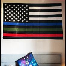 heavy duty thin blue line flag 3x5