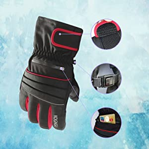 ski gloves warm snow waterproof winter men and women