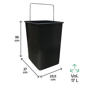 Seau poubelle de tri et de recyclage Basic 2 seaux