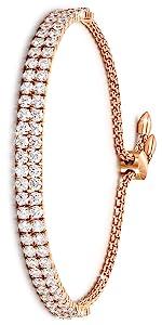 Rose gold tnnis bracelet