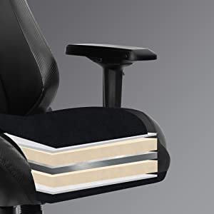 gaming chair with high density mould shaping foam flexible sponge thick padded seat cushion chair