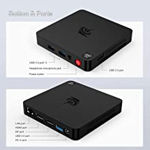Beelink T4 Button&Ports