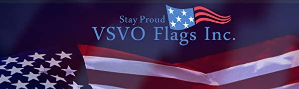 VSVO Flags American flag for outdoor indoor