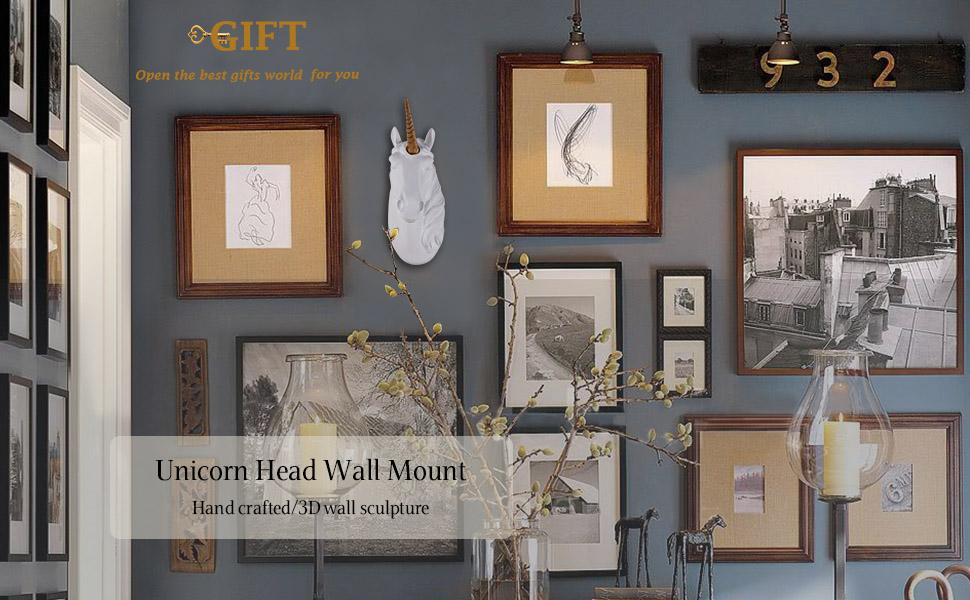 unicorn head wall mount unicorn decor faux taxidermyt baby nursery decor