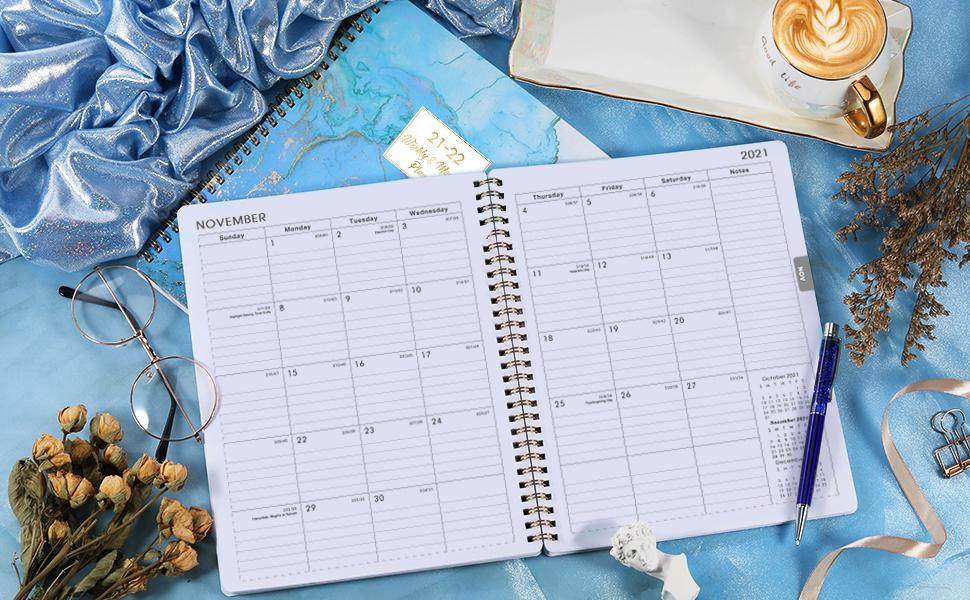 The Monthly Page of Planner 2021-2022