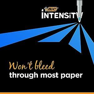 BIC Intensity Felt Tip Marker Pen No Bleed Journal