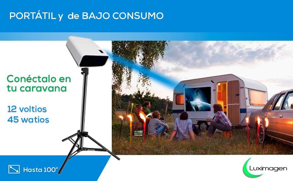 proyector full hd real, proyector barato, proyector 12v, proyector para caravana, portatil, led