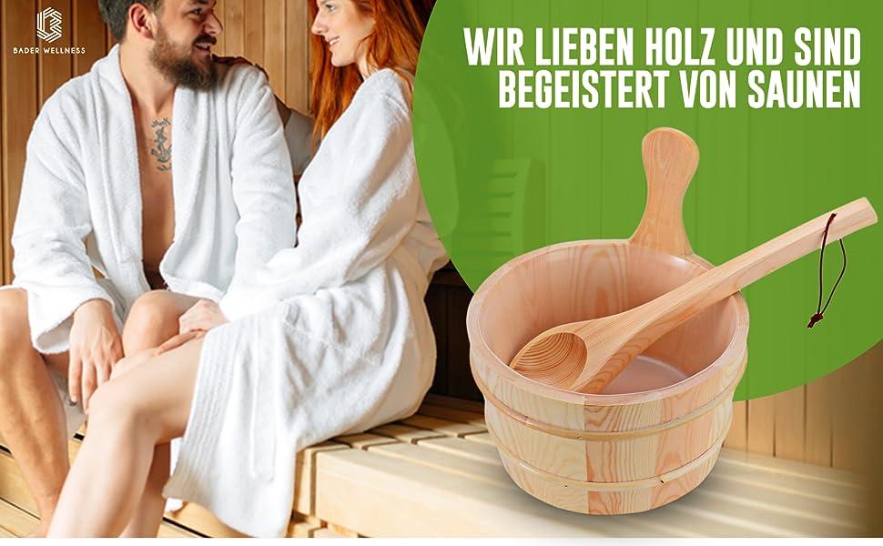 Seau de sauna