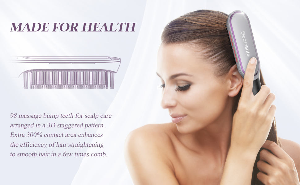 MADE FOR HEALTH 98 massage bump tooth combs for scalp care