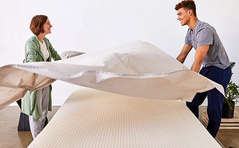 Couple Covering Mattress Topper