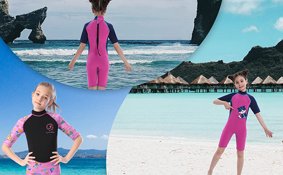 girls wetsuit 3mm neoprene