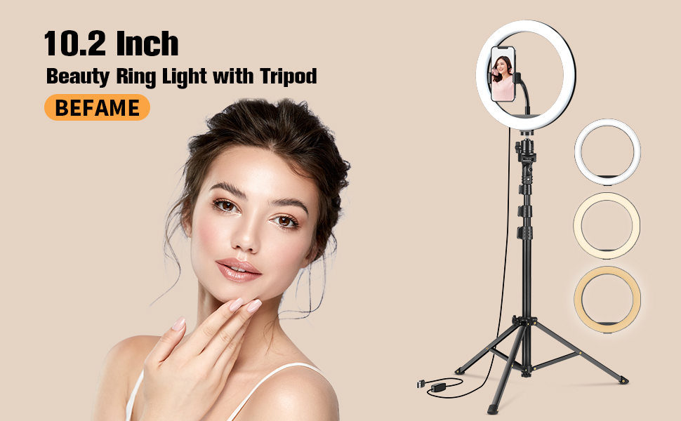 10.2 Inch Ring Light, Bright Up Your Beauty