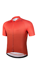 Men's Cycling Jersey Short Sleeve Bike Shirts  Full Zipper  with Pockets