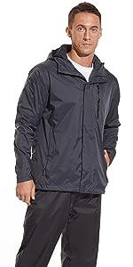 Men waterproof coats