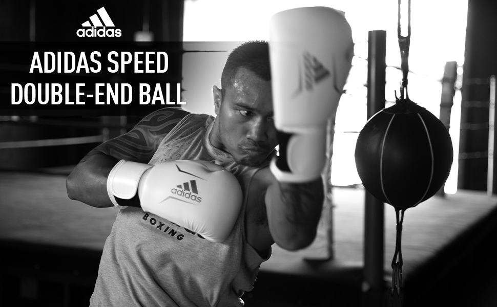 ADIDAS TRAINING DOUBLE END BALL BOXING MMA GYM USE WHITE BLACK BOXING EQUIPMENT