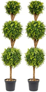 Artificial Boxwood Topiary Trees/Artificial Topiary Boxwood Triple Ball