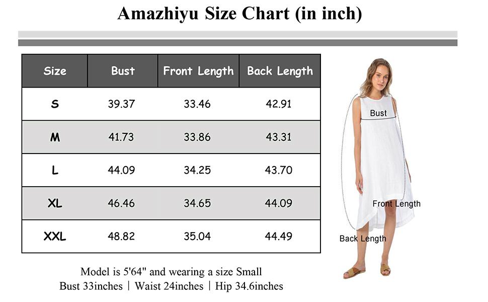 Amazhiyu size chart
