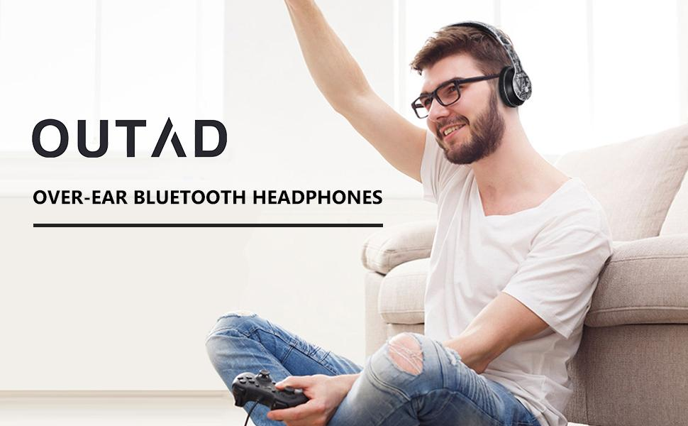 OUTAD Over-Ear Bluebooth Headphones