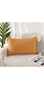 PANOD Boho Knitted Throw Pillow Covers