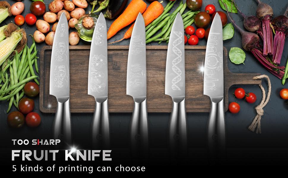 TooSharp paring knife size chart 2