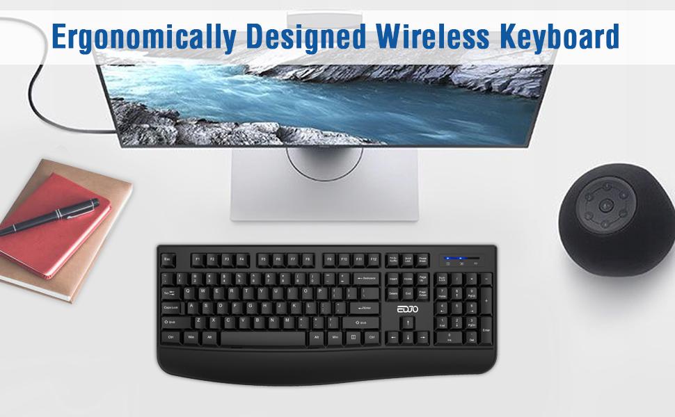 Ergonomically Designed Wireless Keyboard