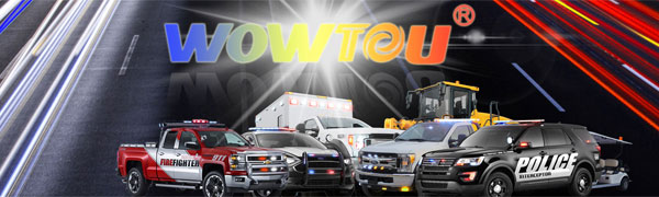 WOWTOU Brand amber white traffic advisor light bar for emergency vehicles lighting