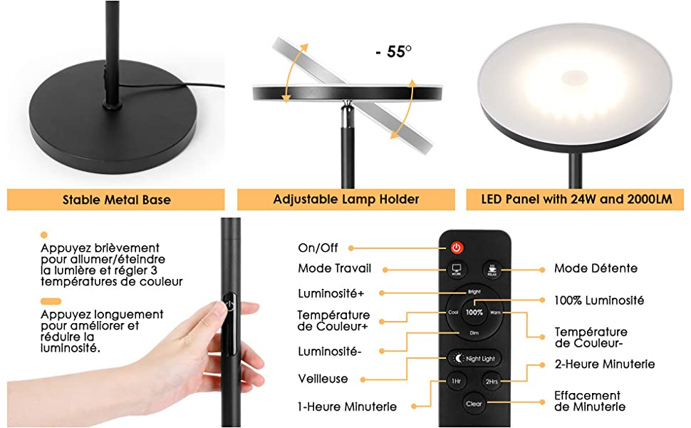 24W LED Lampadaire
