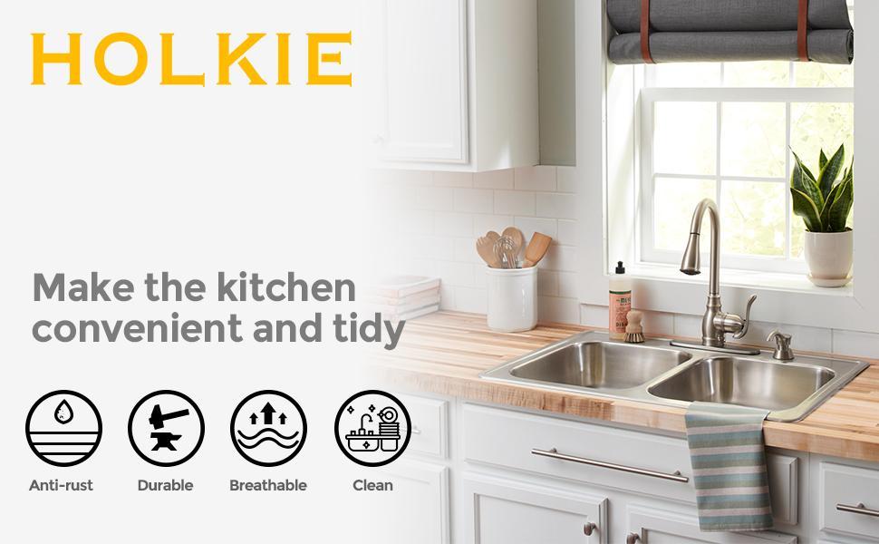 dish brush holder for kitchen sink dish caddy for sink sponge sink holder
