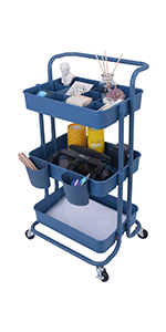 3 Tier Utility Rolling Cart