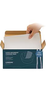 100 absorbent pads