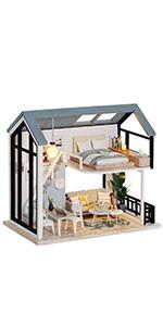 Fsolis diy dollhouse kit ql02