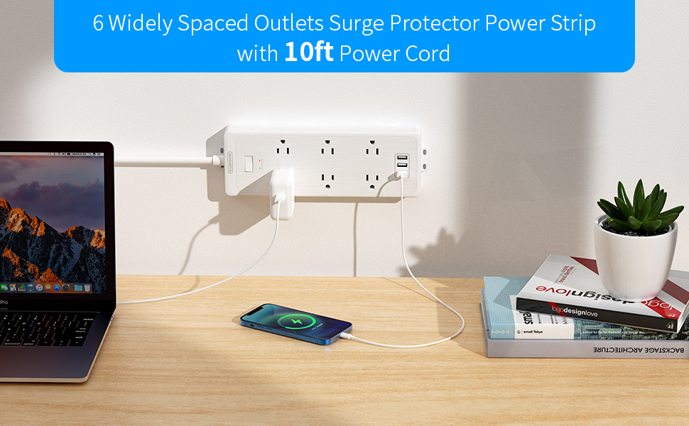 surge protector 10 ft cord