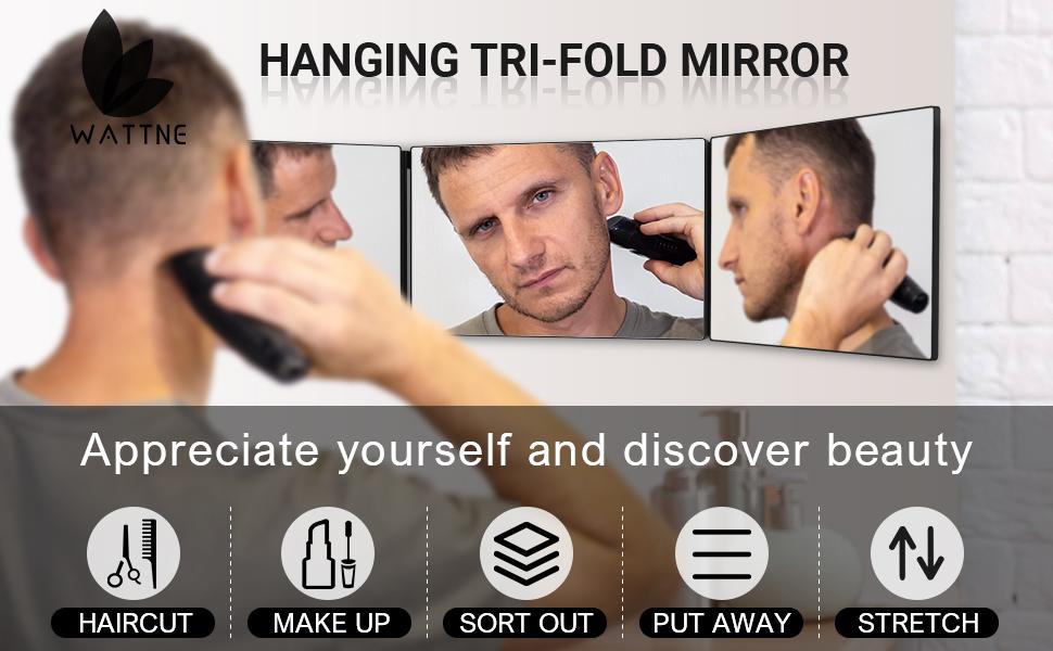Three-fold Haircut Mirror