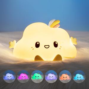 cat lover gifts for girls cat night lights for kids cat nightlight colorful silicon animal light