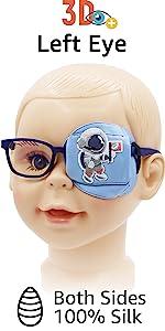 left eye patch for kids boys astronaut silk eyepatch eyeglasses patch