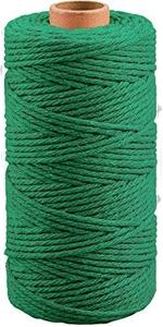 Donkergroen Macrame katoenen touw koord 3MM