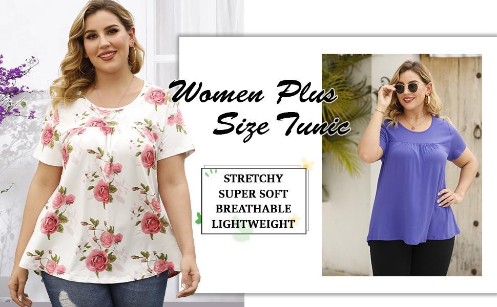 women plus size tunic