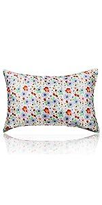 flower silk pillowcase