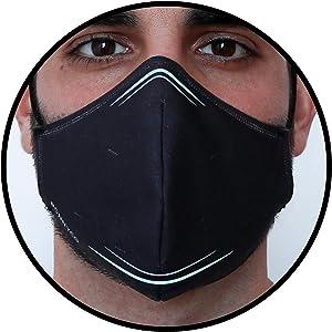 Mascarillas negras de gran adaptabilidad a nariz y mentón