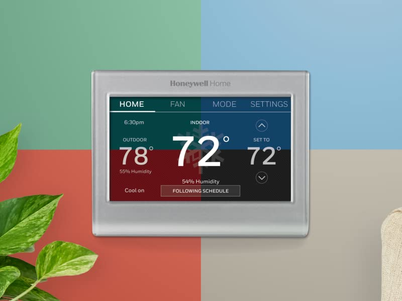 Wifi color touchscreen thermostat with customizable screen colors