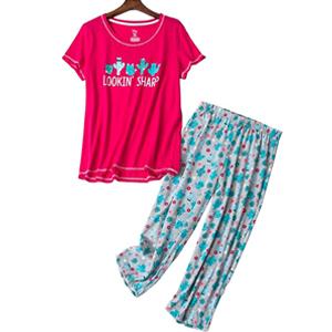 ladies capri pajamas sets