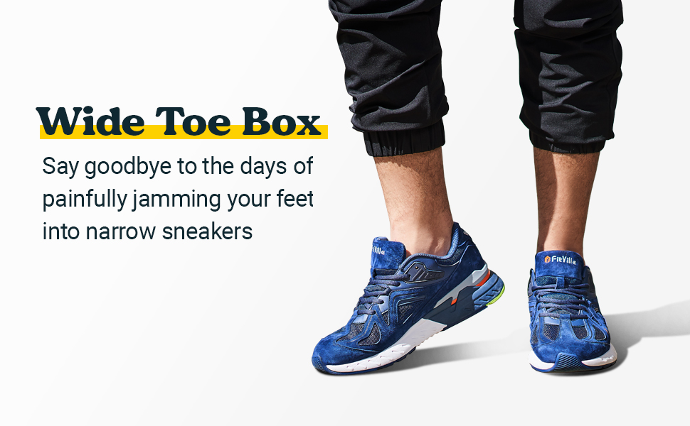 Wide Toe Box More Room for Toe