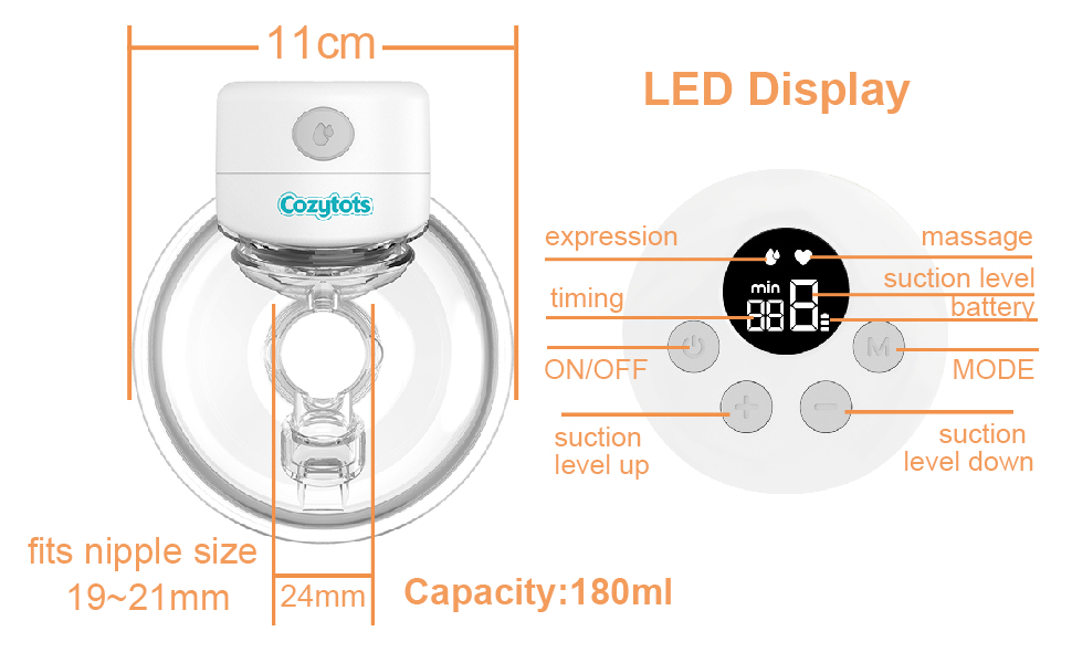 compact size and LED display