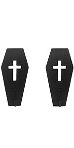 2 pack wooden coffin key holder