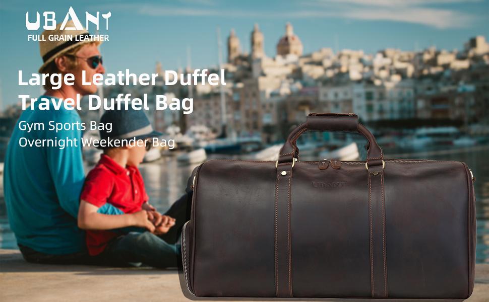 Genuine Leather Travel Duffel Bag